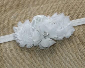 Shabby Rose Flower Headband - Baby Headbands - Baby Girl Headbands - Baby Hair Accessories