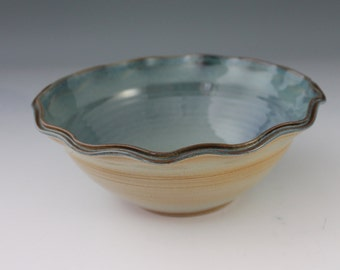 Stoneware Bowl - Ceramic Bowl - Blue bowl - North Carolina Pottery