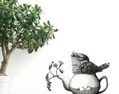 Nesting Frogmouth Removable Wall Sticker | LSB0063CLR-RTL