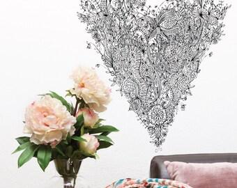 Love Heart Removable Wall Sticker | LSB0079CLR-SWM