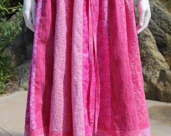 Patchwork Hippie Festival Skirt Festival Clothes Hippie Clothes Hippie Skirt Hippie Clothing Festival Clothing Patchwork Skirt Pink Fuchsia