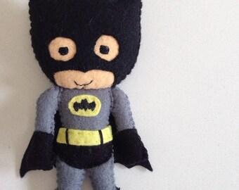 Super hero Batman felt toy / doll for super kids