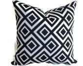 Robert Allen Decorative Pillow Accent Pillow Throw Pillow 18x18 20x20 22x22 or 14x20 Lumbar Pillow Deep Navy and White Jacquard Pillow Cover