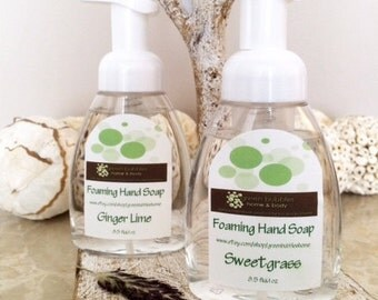 Foaming Hand Soap, Spearmint Eucalyptus, All Natural 8.5 oz
