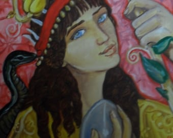 Persephone and the Orphic Egg print (16x20)