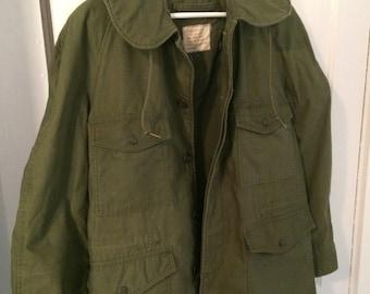 SALE- Vintage 1970's Military Men's Field Jacket- Size Medium Short