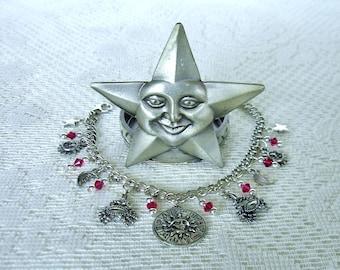 Cancer Charm Bracelet Zodiac Bracelet Horoscope Birthday Gift