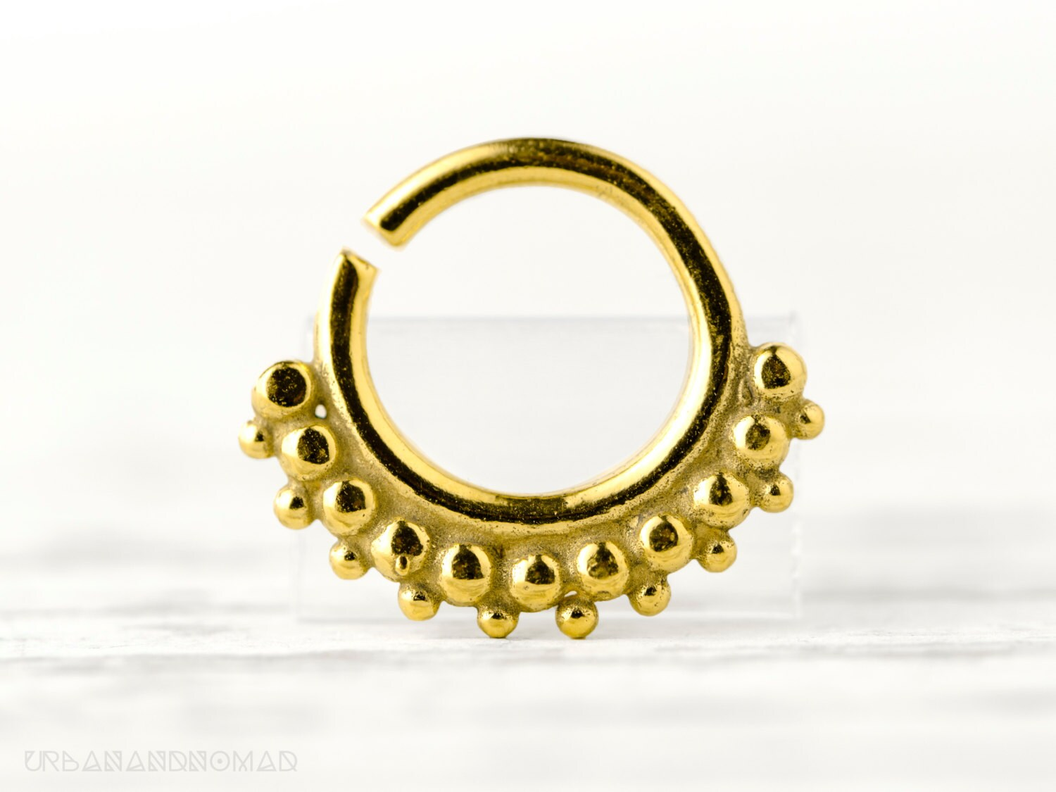 septum ring piercing nose ring jewelry by organicethnic