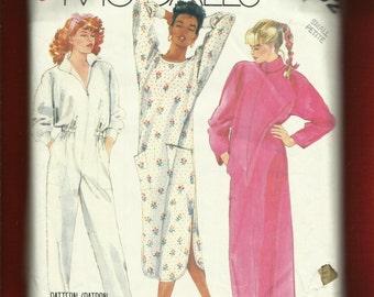 Vintage 1980's McCalls 2803 Mechanic Jumpsuit Caftan & Nightshirt Size Small 10/12
