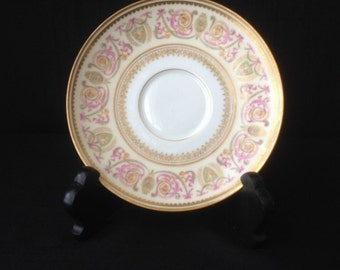 Vintage China Saucer marked France Manufactured at Limoges for Chas S. Stifft Little Rock Arkansas Patented