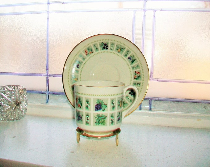 Royal Doulton Tapestry Tea Cup and Saucer Vintage Bone China Made in England