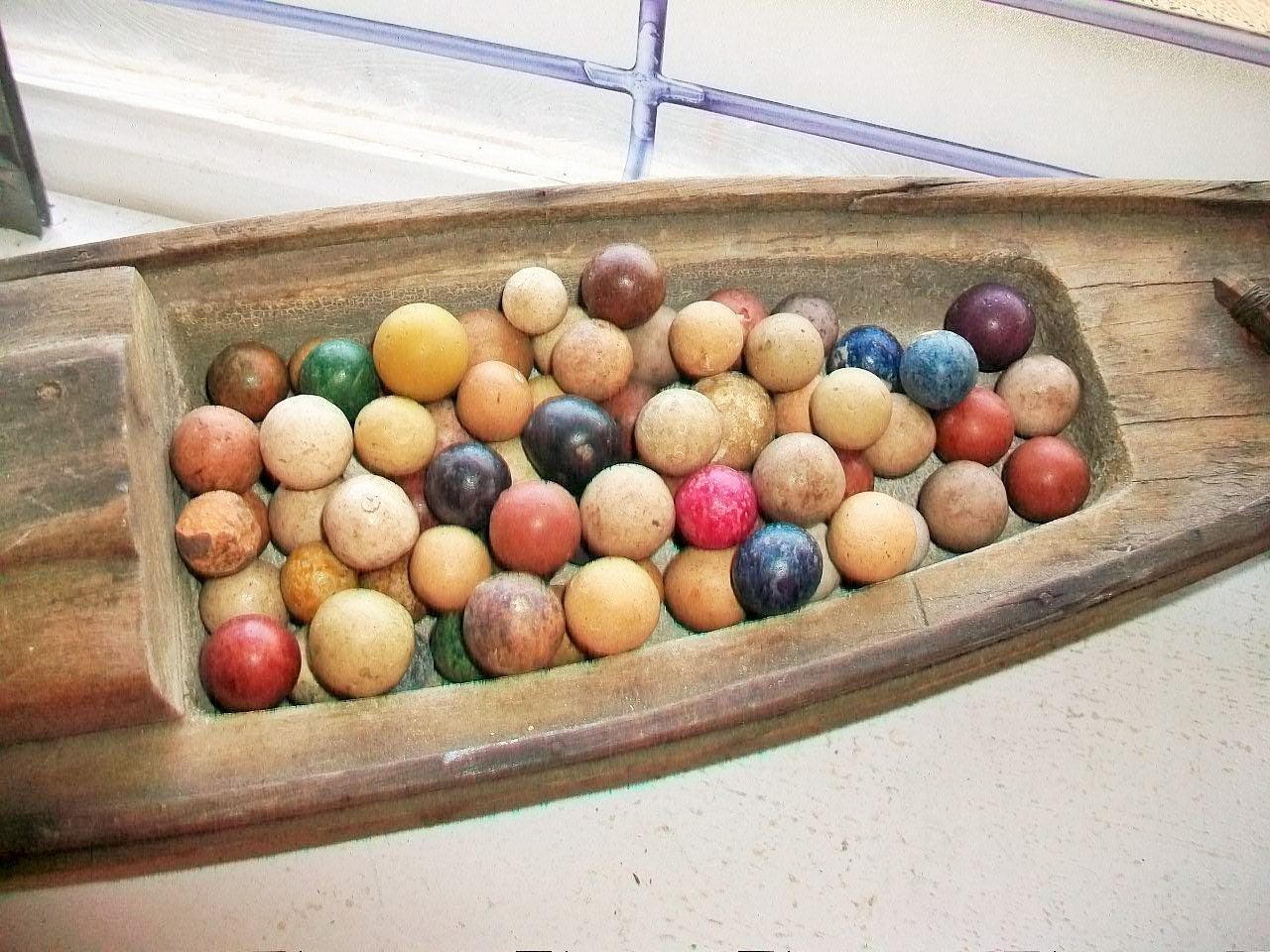 Single Colored Marbles : Antique clay marbles multi colored late s