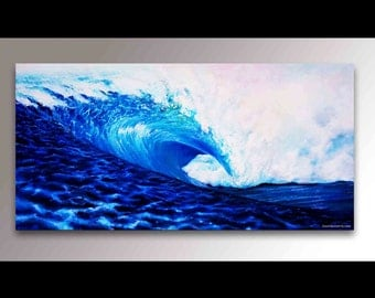 Paintings of Ocean Waves | how to paint a wave of the sea ...