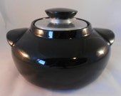 Mid Century Hall Black Bean Pot Casserole Server