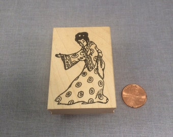 Geisha Rubber Stamp