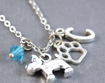Scottish Terrier - Personalized Dog Necklace - Pet Loss Jewelry - Dog Jewelry - Pet Necklace - Animal Necklace - Dog Pendant - Pet Lover