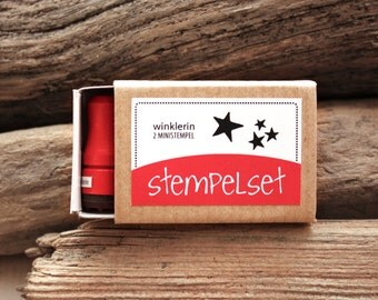 Mini Star Rubber Stamp // Set of 2 Mini Stamps