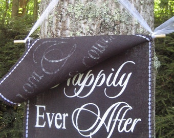 Burlap Banner Here Comes The Bride Rustic Wedding Sign 2 Layer Black