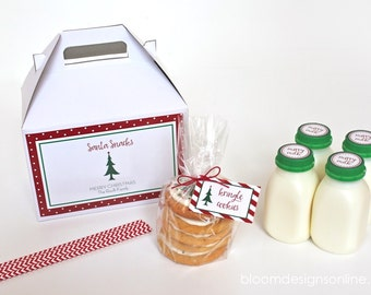 Santa Snack Milk Kit With Printables