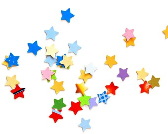 Mix of colorful little stars punches - confetti