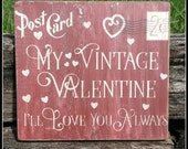 Vintage Valentine Post Card, Valentines Day, Vintage Valentine, Rustic, Primitive, Distressed Signs