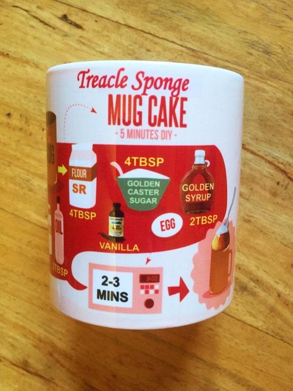 Treacle sponge cake in a mug microwave recipe cup for Recipe for cake in a cup in the microwave