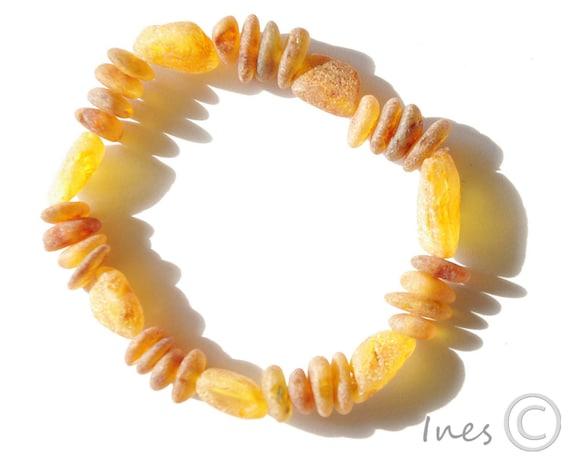 Raw Unpolished Baltic Amber Bracelet 401