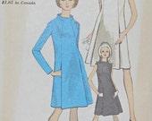 Vogue 7138 UNCUT Sewing Pattern A-Line Dress Size 14 Bust 34