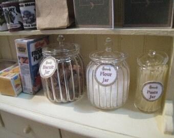 30 % SALE. DOLLHOUSE RIBBED Jars