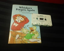 Whiskers Forgets Again by Martha P. Howlett ~  pictures by Jim Kersell - vintage 80s Weekly Reader Book & Cassette Recording