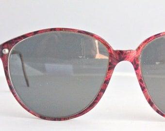 Vintage 80's Large Round Raspberry Eyeglass Frames