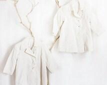 24 Month Victorian Coats //   Christening, Spring, Baptism, Wedding, - White Cotton Unisex