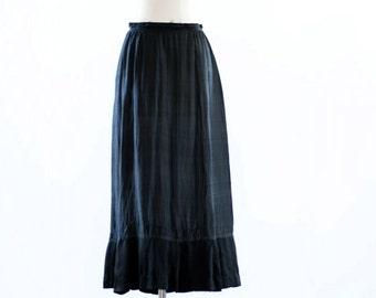 Silk Half Slip. MED. // 1800s Victorian Clothing, Antique Lingerie.