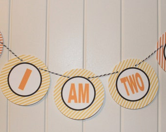 CONSTRUCTION ZONE Birthday or Baby Shower Party Highchair Banner I am One - Party Packs Available