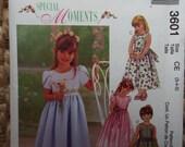 Here comes the flower girl! Little girls dress pattern McCalls 3601 uncut