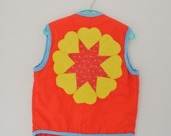 Girls Vintage Vest 1960's Outerwear