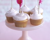 pink feather arrow cupcake toppers - pinks and reds