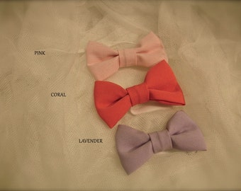 Bow tie for babies newborn to 12 months ,  bow tie for boys 2 year old -16 years old, pink bow tie, lavender bow tie