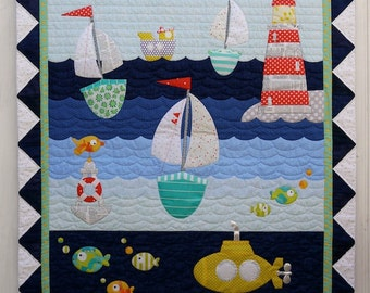 Ship to Shore Applique Quilt Pattern Instant Download PDF Brother Scan N Cut compatible