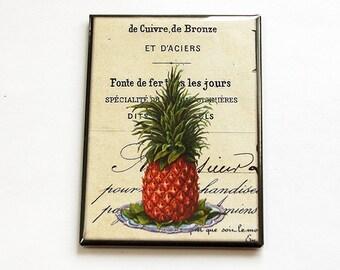 Pineapple Magnet, Food Magnet, ACEO magnet, Kitchen Magnet, Fridge magnet, Pineapple, Fruit, Canadian Made (4735)