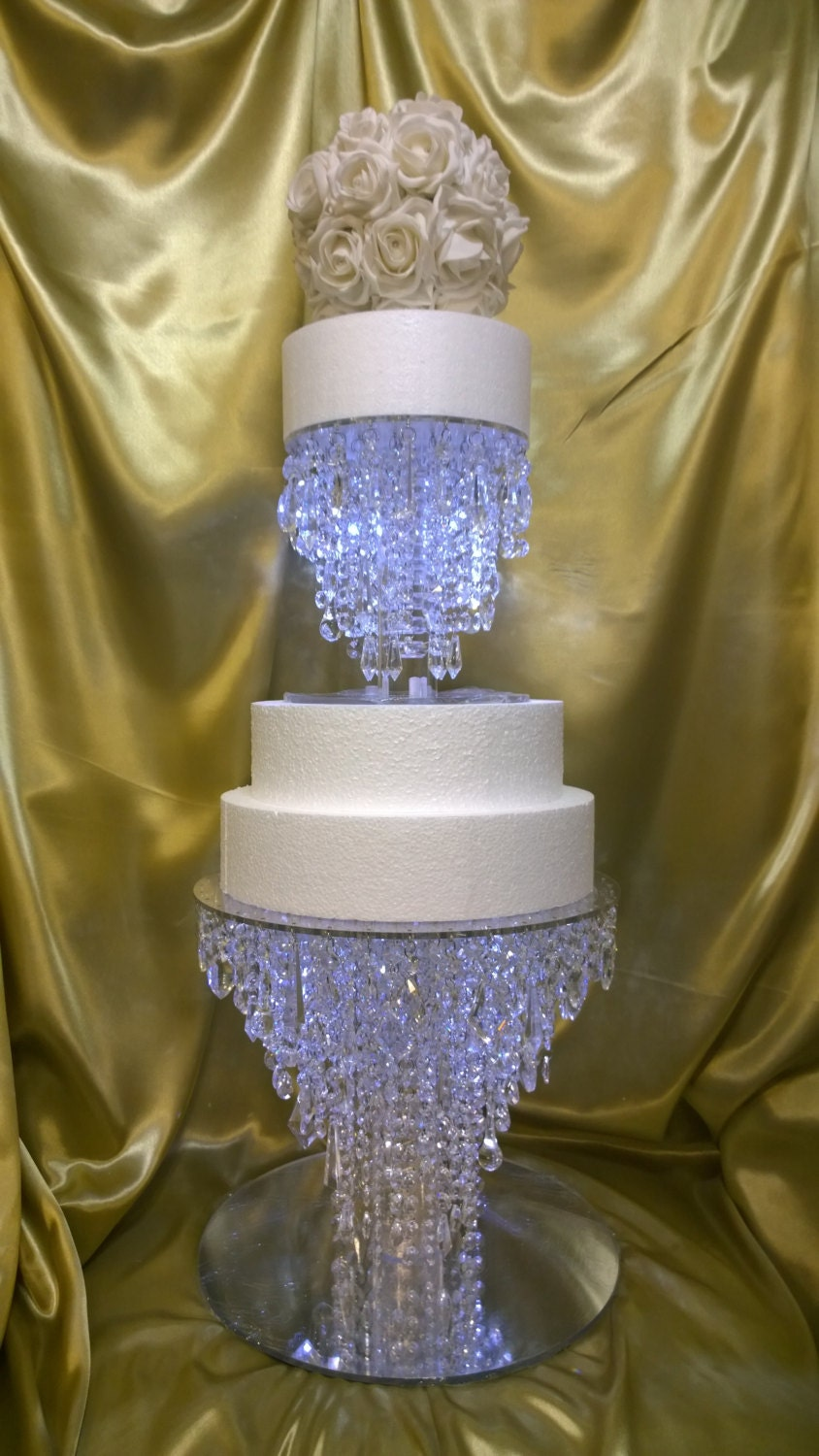 The Ice Crystal Cake Stand 2 Tier Set Glass