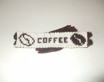 Coffee Bracelet, Friendship Bracelets, Custom Word Bracelets, Coffee Lovers Accessories, Unexpected Gifts, Macrame, Knotted Accessories
