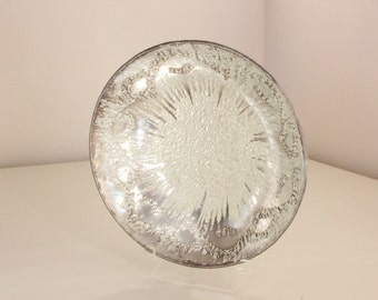 Dorothy Thorpe Accent Dish — Sterling Silver Brushed Crystal