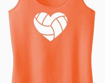 Volleyball Heart Racerback Tank Top