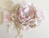 Baby Girl Headband, Flower Girl Headband, Baby Headband-  DollCake Headband, TUTU Du Monde- Lace Headband, Boho Headband