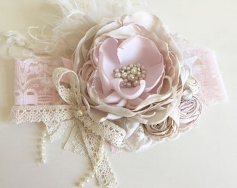 Baby Girl Headband, DollCake Headband- Baby Headband- Flower Girl Headband, Well Dressed Wolf-  Avry Couture- TUTU Du Monde- Lace Headband