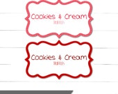 Valentines Day Party Supplies - Scalloped Cards - Candy Buffet Labels - Be Mine Collection - Instant Download