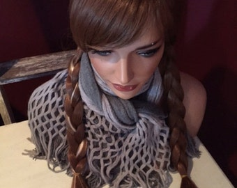 Princess Ana Braided Wig with White Strands // Full synthetic wig