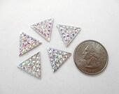 Crystal AB 16mm Triangle Rhinestone, 5 Pieces, Sparkle Detail, Fancy Rhinestone, Garment Decoration, Triangle Acrylic Rhinestone
