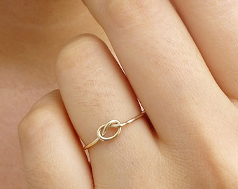 Gold Knot Ring - 14K Gold Filled Knot Ring - Bridesmaid Ring  - Tie the Knot Ring - Friendship Ring - Promise Ring - Best Friend Ring
